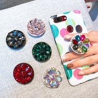 Bilhão de titular do telefone celular universal com diamante real adjunto expansível suporte de dedo de 360 graus para iPhone 12 11 Pro Max