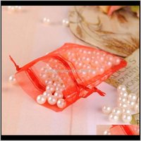 Event Festive Party Supplies Home & Garden Drop Delivery 2021 7X9Cm 100Pcs Lot Organza Jewelry Bags Pouch Dstring Bag Packaging For Pouches J