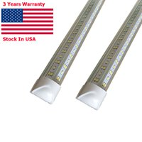 2ft 4ft 5ft 6ft 8ft LED Tubes V Shape Integrated light Cooler Freezer warehouse Lighting Plug and Play Stock In US