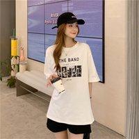 Women's T-Shirt T-shirts Tops Japanese Kawaii Ladies Ulzzang Vintage Letter Print Tshirt Female Korean Harajuku Clothes For Women