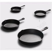 Pans Cast Nonstick 1426Cm Skillet Frying Flat Pan Gas Induction Cooker Iron Egg Pancake Pot Kitchen Dining Tools Cookware W6Ra1 53Z4L