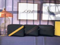 3色のショルダーストラップが調整可能な豪華なデザイナーメッセンジャーバッグジッパー式肩袋FD02マットブラック86サイズ22 x 15 x 4.5 cm