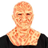 Freddy Krueger Masque Halloween Film Un cauchemar sur Elm Street Terror Party Cosplay Costume Props Horror Latex Headgear Q0806