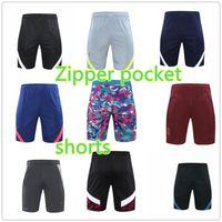 Mens Soccer Shorts 2021 Pantalon de football de haute qualité Zipper Pochette Pochette Adulte Entraînement Summer Pantalones Cortos de Fútbol