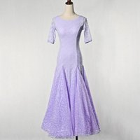 Stage Wear Fariy Ballroom Competition Dresses Women Backless Costume Prom Dress Lace Modern Tang Dance Clothes Tango Dancewear DL8364