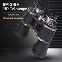 مناظير تلسكوب Baigish 10x50 قوية المهنية hd كبير العدسة الروسية العسكرية lll للرؤية الليلية الصيد