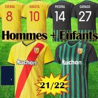 Maillot Lens Camisetas de fútbol RC 21 22 GANAGO GRADIT FORTES CAHUZAC PEREZ 2021 2022 RC LENS Camisetas de fútbol Kits MAURICIO Equipo KAKUTA