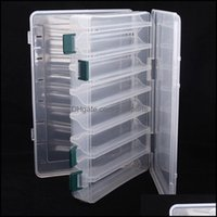Aessories Sports & Outdoorslarge Double Sided Transparent Fishing Lure Box Bait Hooks Tackle Storage Waterproof Case Organizer Container Por