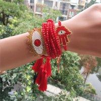 Charm Bracelets MIYUKI Bracelet Turkish Evil Eye Gold Delica Jewelry Lucky Pulseras 2021 Women Tassel
