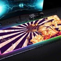 Mauspads Handgelenkstützen XGZ Large RGB Pad Black Lock Edge Anime Ace One Piece Custom Mode Computer Glühen Bunte Schreibtisch Matte Geschwindigkeit Gummi N