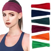 18 Colors Nonslip Elastic Folds Yoga Hairband Wide Sports Headbands Running Accessories Summer Stretch Hair Band 9.5*22cm YJ007