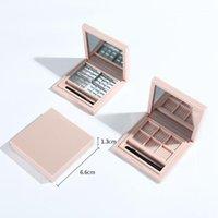 Palette vide pour maquillage de maquillage à lèvres Maquillage Boîte à fard à paupières Cosmétique Diy Palete, 6 grilles Pink1