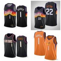 불사조태양남자 Devin 1 Basketball Jersey Charles 34 Barkley Jerseys Steve 13 Nash Deandre 22 Ayton Black 반바지 도시