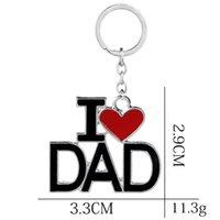 Metal Aile Kolye Anahtarlık Ben Mama / Anne / Baba / Papa Mektup Zincirleri Hatıra Takı Anahtarlık Anne Babası Günü 1382 V2