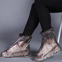 Pair Rain Shoe Boots Cover PVC Waterproof Anti-slip Rainproof For Women Men K9Store Disposable Covers