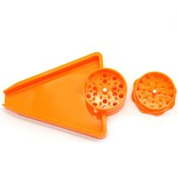 Plastic Grinder triangle Big Size Tray smoking Herb Grinders Roll Combo All In One 2 Parts Abrader Crusher bath Tool Accessories