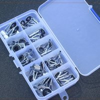 Boat Fishing Rods 36 Pcs Rod Tip Replacement Different Size Top Central Rings Repair Kit Storage Case Angling Accessory Guide Pole Care