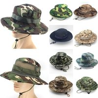 Hats, Scarves & Gloves Sets Bucket Hat Sunscreen Boonie Hats Men Printed Cap Washed Cotton Fashion 21 Models Camouflage 2021