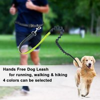 Dog Collars & Leashes Elastic Waist Leash Running Jogging Sport Product Adjustable Nylon With Reflective Strip Pet Accessories