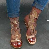 Women Shoes Sexy Handmade Women's Butterfly Sandals Cross Decoration Rhinestone Female Flats Woman Ladies Plus Size 43 Gxcmp