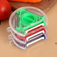 회전식 3in1 토마토 감자 사과 필러 야채 도구 오이 슬라이서 주방 가제트 액세서리 HWF9840