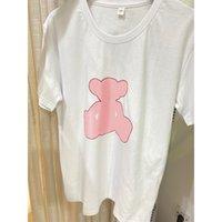 21ss T Shirt T Shirt Moda Letras con el patrón de oso Tees para hombre verano fresco top más tamaño Muchachos Hip Hop Streetwear O-cuello