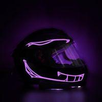 Saiten Wasserdichte Motorrad Helm Dekorative Licht Nacht Reiten Kaltsignal Blinkstreifen LED Leuchtaufkleber Sicherheit