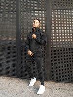 Men's Tracksuits Sets Tracksuit Casual Stripe Sport Suits Fitness Zipper Clothing Sweatpants Slim Fashion European TrendsTracksuits Set