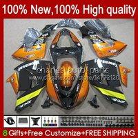 Motorcycle Bodys For KAWASAKI NINJA ZX 10R 10 R 1000 CC ZX10R 06 07 Bodywork 14No.69 ZX-10R ZX1000 1000CC 2006 2007 ZX1000C ZX1000CC 2006-2007 Fairing Kit glossy orange