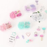 Filing Supplies 1 Set Coloful Binder Clips Push Pins Paper Clip Stationery Combination Po Memo Ticket School Office