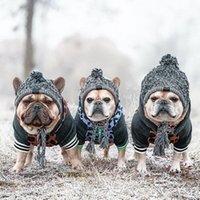 الكلب الملابس shuangmao pet القط قبعة عيد الميلاد دافئ في الهواء الطلق يندبروف القبعات الصوف الملحقات للكلاب الصغيرة المتوسطة الصغيرة