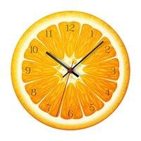 Relojes de pared 12 pulgadas de reloj de color patrón de fruta colgando reloj de alarma decoración del hogar