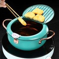 Pans Style Deep Frying Pot Tempura Fryer Pan Temperature Control Fried Chicken Cooking Tools Kitchen Utensil