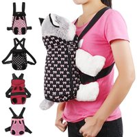 Carrier For Dogs Pet Dog Backpack Canvas Mesh Outdoor Travel Products Breathable Shoulder Handle Bags Small Cats Car Seat Covers
