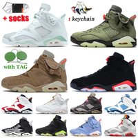 Nike Air Jordan 6 Retro 6 Travis Scott 6s 2020 Stock x Jumpman mujeres de los zapatos de baloncesto del Mens Hare Tech Chrome 54 Quai Entrenadores zapatillas de deporte