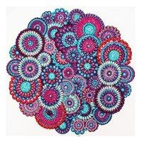 Mandala Çiçek 5D Özel Şekilli Rhinestone Kristal Diy Elmas Boyama