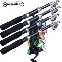 Fishing rod and rotating reel 3BB 1.6:1, portable freshwater fishing bag, fishing line combination, 5.2m