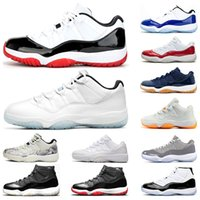 air retro jordan 11 CONCORD Hommes Chaussures de basket-11s blanc Bred Cool Grey GAMMA Légende BLEU cerise sport UNC 11 travestissement espadrille Baskets mode en plein air