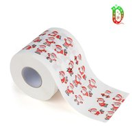 Joyeux Noël papier toilette papier créatif print motif série rouleau de papiers mode drôle de nouveauté cadeau écologique portable HWWE8596