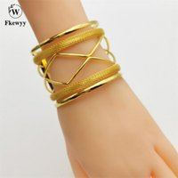 Bangle Fkewyy Fashion Luxury Bracelets Women Gold Plated Jewelry Accessories Geometry Bangles With Designer Charms Jewellery