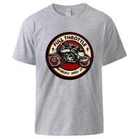 Männer T-Shirts 2021 Mann T-Shirt Voller Drossel Cafe Racer Rockabilly Biker Coole Sommer Baumwolle Kurzarm Tops Casual Black Tee
