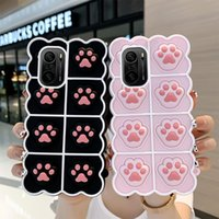 Phone Case For Xiaomi Mi 11i POCO M3 F3 X3 GT K40 K30 9T Redmi Note 10 9 Power Pro Ultra 5G 4G Cat Claw Relive Stress Silicone
