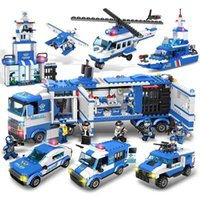 toyPinxing 322 compatible Lego building block city police truck assembly children's DIY toys 6 years oldfidget