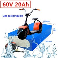 GTK 60V 20AH electric bike battery 60v lithium ion battery pack with BMS for motor bicycle e-bike 1000W 1500w + 67.2V 3A charger