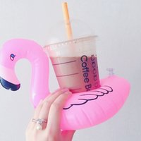 Ins insuflável inflável flamingo bebidas copo titular esportes piscina ao ar livre desenhos animados cartoon flutuadores bebidas copos stand anel barro coasters flutuadores crianças brinquedo banho