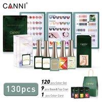 Canni 130pcs 전체 세트 네일 컬러 젤 16ml 네온 / 고양이 눈 / 반짝이 / 투명 색상 시리즈 폴란드어 512Kit
