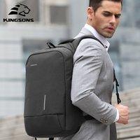 Kingsons Mens Sac à dos Mode Multifunction USB Charging Hommes 13 15 pouces Sacs à dos pour ordinateur portable Sac anti-vol pour Mena
