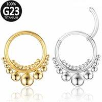 Titanium Nose Ring Women Daith Earrings Septum Rings Hoop Hinged Segment Clicker Ear Cartilage Tragus Helix Lip Piercing Jewelry