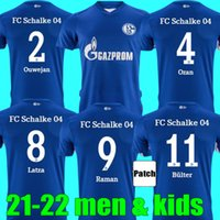 21 22 FC Schalke 04 Soccer Jerseys 2021 2022 Hogar de Uth Ozan Harit Raman Serdar Kutucu Matondo Camisas de Fútbol Men + Kit Kits