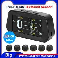 스마트 TPMS 자동차 타이어 압력 알람 모니터 4/5 외부 내부 센서가있는 태양 전원 자동 보안